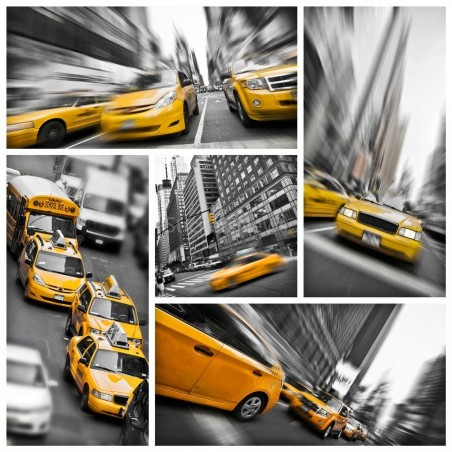 Stickers boite aux lettres New York Taxi
